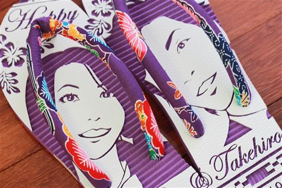 紅型島ぞうり(紫) ※紅型島ぞうりの鼻緒は1つ1つが職人による手作りなため、同じ種類の商品...
